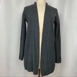 Boden Grey Cashmere Cardigan Sweater, Sz 8
